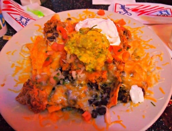 Nachos with fried oysters Eating in New Orleans With Kids
