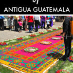 Antigua Guatemala flower carpets