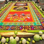 Guatemala Travel Blog. Flower Carpets in Antigua Guatemala