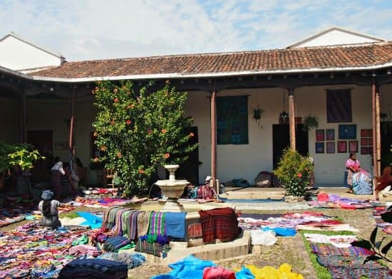 a month in Antigua courtyard market