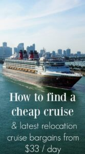 finding cheap cruises latest relocation cruise bargains