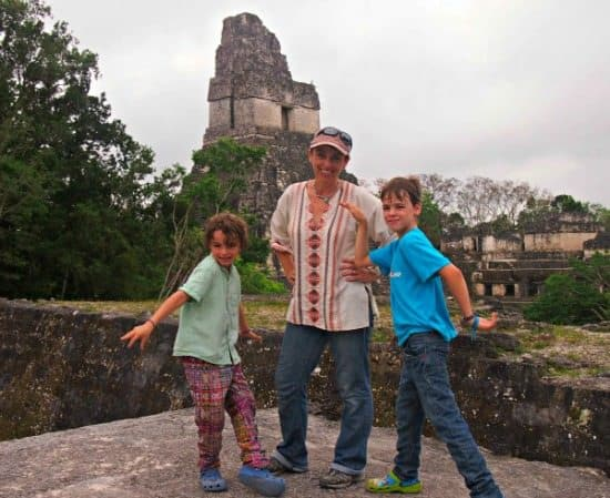 Tikal with kids. World Travel Family