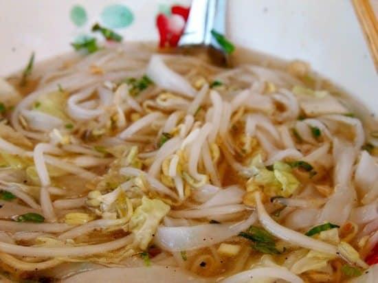 Laos breakfast noodle soup