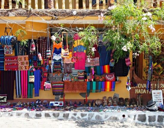 Antigua to San Pedro la Laguna. Shops in San Pedro