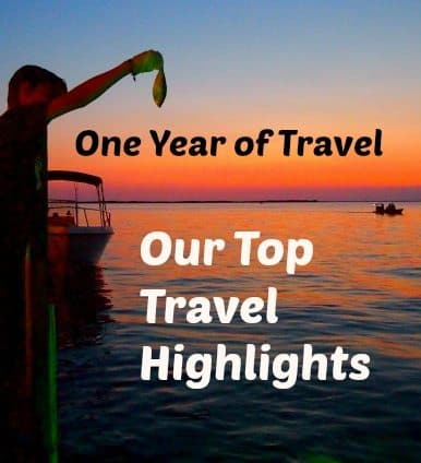 Top Travel Highlights one year of travel