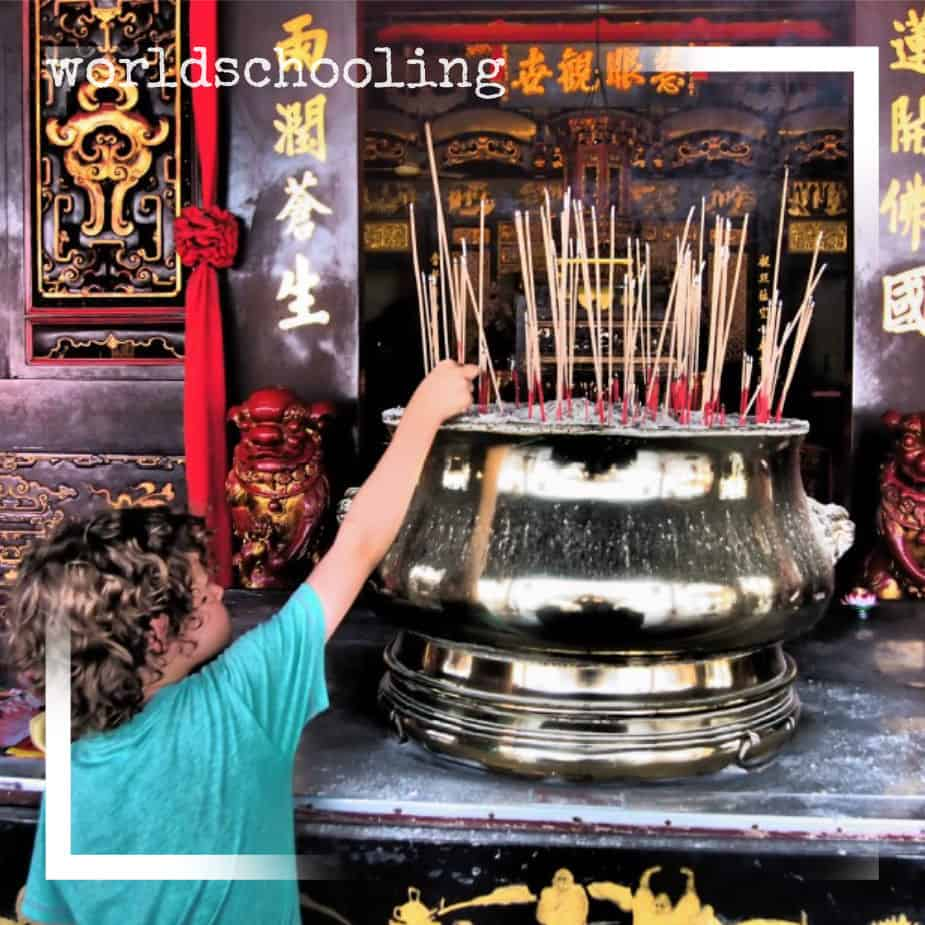 Worldschooling in Malaysia Temples and Religions