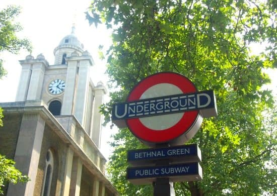 Bethnl Green Underground station. family travel blog