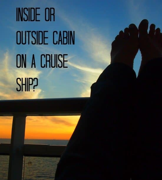 choosing an inside or balcony cabin on a cruise ship
