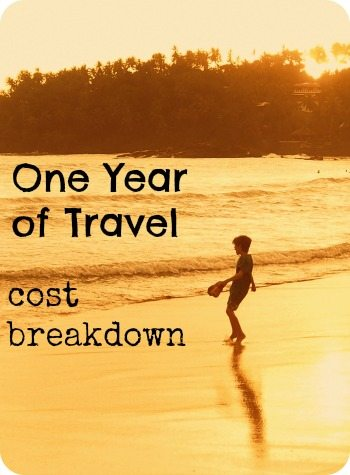 Cost of one year of travel cost breakdown world travel for Cost of world cruise