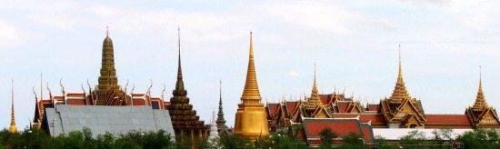 Bangkok Palace skyline