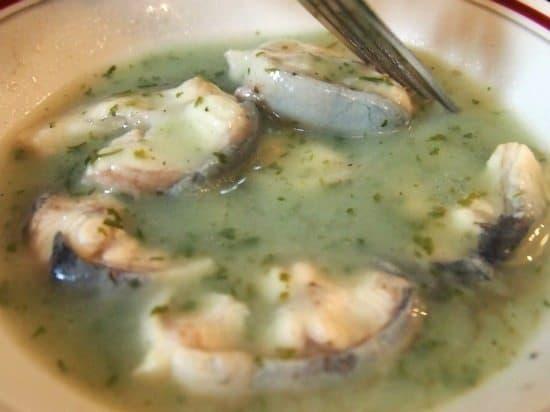 hot eels in liquor traditional London food. UK.