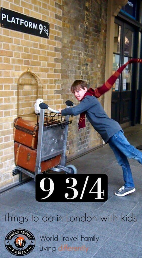 Platform 9 3/4 London. Things to do in London with kids.
