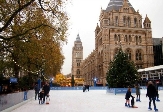 Christmas ice rink London