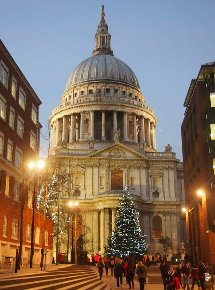 London at Christmas St Paul's