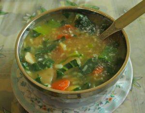 Sherpa stew, a trekker's favourite dish from the Everest region of Nepal.