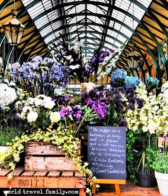 Covent Garden Flower Market. London's Best Places and Best Areas of London to Visit