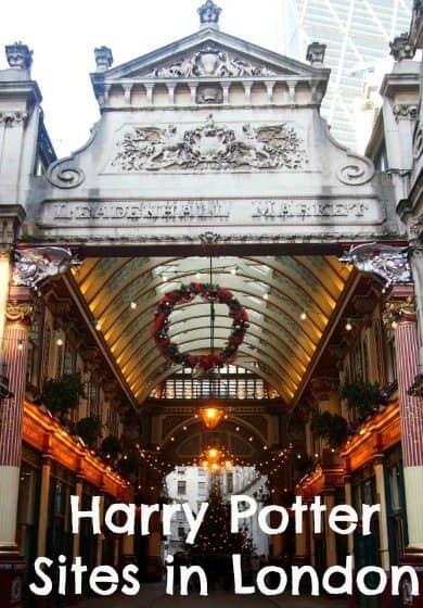 Harry Potter sites in London UK.