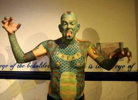 Lizard man Ripley's London.