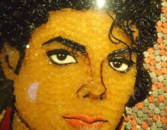 Michel Jackson in Gummy Bears Ripleys London