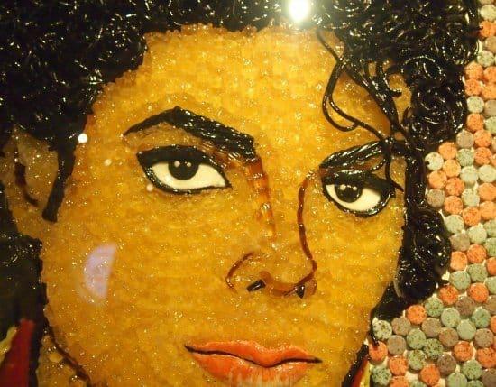 Michel Jackson in Gummy Bears Ripleys London