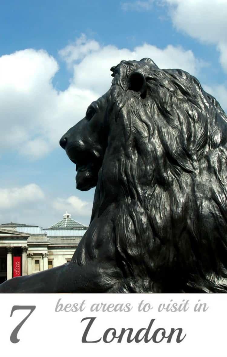 Trafalgar Square 7 best areas of London to visit