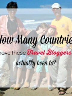 how many countries have travel bloggers been to