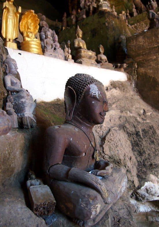 Buddha at Pak Ou Caves Luang Prabang