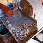 Gemstone working within the walls of Galle Fort Sri Lanka.