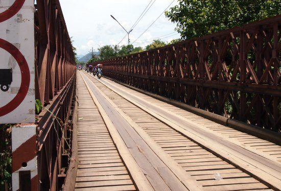Luang Prabang Laos. The Old Bridge