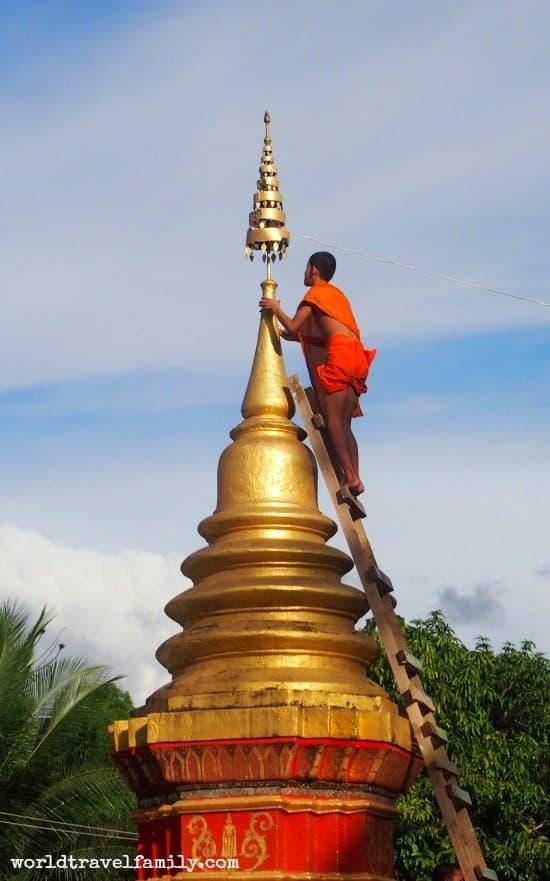 Visit Luang Prabang. Monk at Monastery Luang Prabang Laos