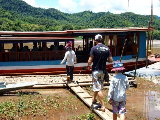 Boat crossing to Pak Ou Caves Luang Prabang
