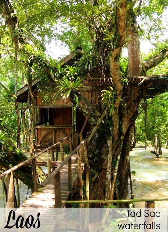 Visit Luang Prabang Waterfall tour. Tad Sae Waterfalls Luang Prabang Laos