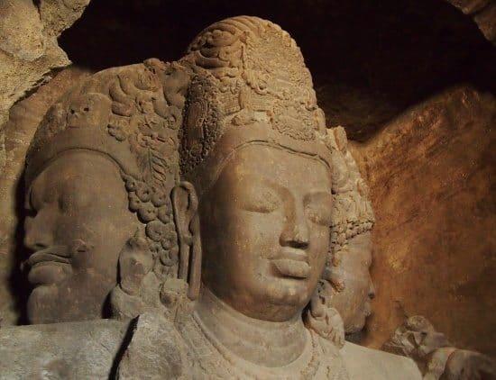 Shiva statue elephants caves