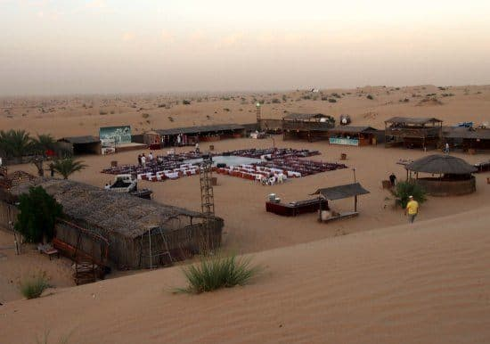 Desert Camp after the Dubai Camel Safari guests can enjoy dinner, belly dancing and a show.