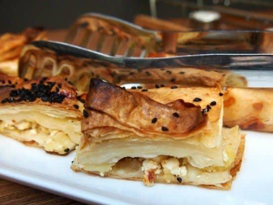 Turkish Breakfast, Istanbul. Borek at Alilass hotel