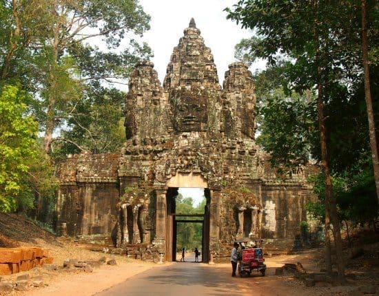 Traveling homeschoolers. Socialization and history at Siem Reap Cambodia, visiting Angkor with kids