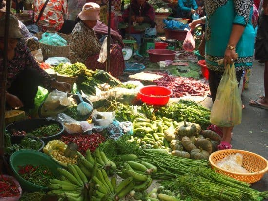 Battambang Cambodia. Cookery Class and Market.