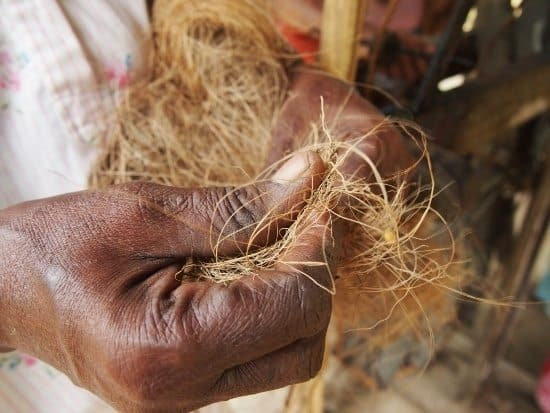 Making Coir rope in Kerala