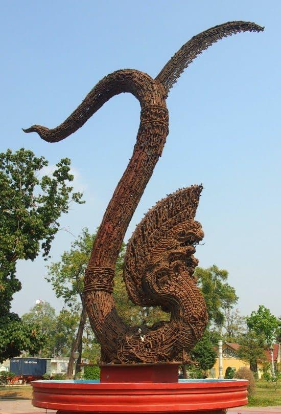 .Peace Naga Cambodia. Staue Made From Guns. 1 day tour of Battambang, Cambodia.
