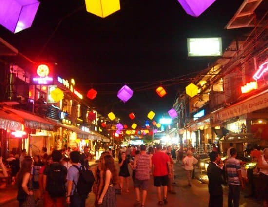 Siem Reap's modern Pub Street