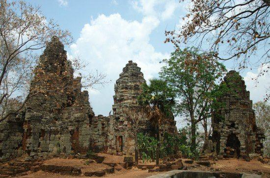 Ancient Temple on hill battambang cambodia