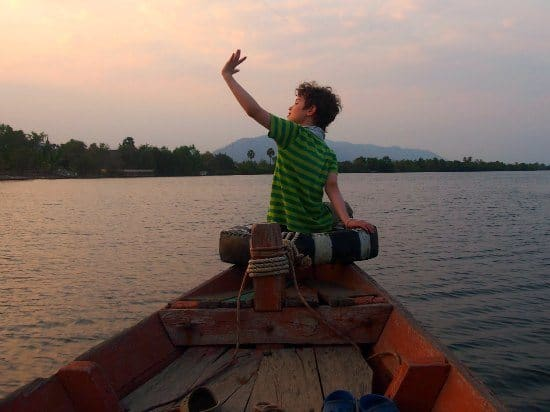 Sunset cruise Kampot Cambodia