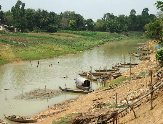 Fishing village Battambang CambodiaA