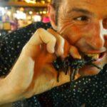 Deep fried tarantulas.Night Market Siem Reap