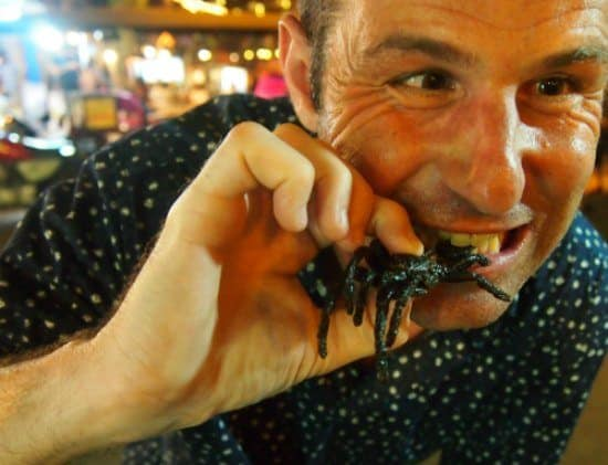 Deep fried tarantulas.Night Market Siem Reap