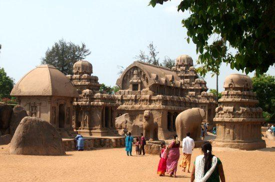 Mamallapuram 5 rathAS