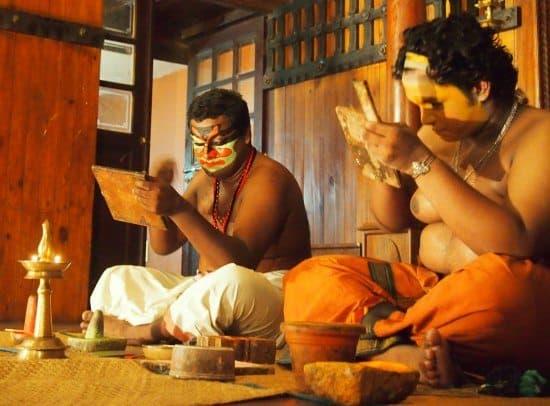 Kathakali dancers Cochin India