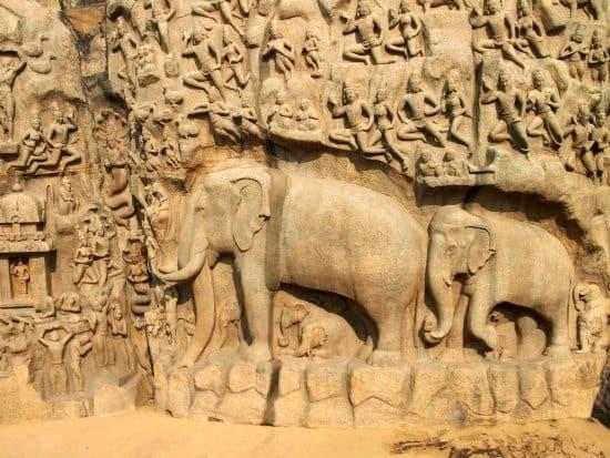 Stone carving mamallapuram