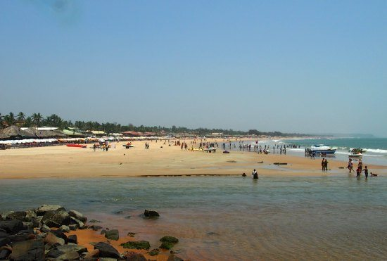Baga Beach, North Goa, still busy in the low season