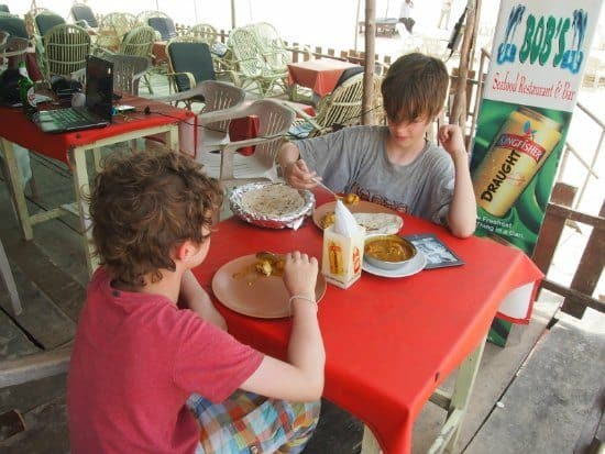 Beach Shack Colva good food
